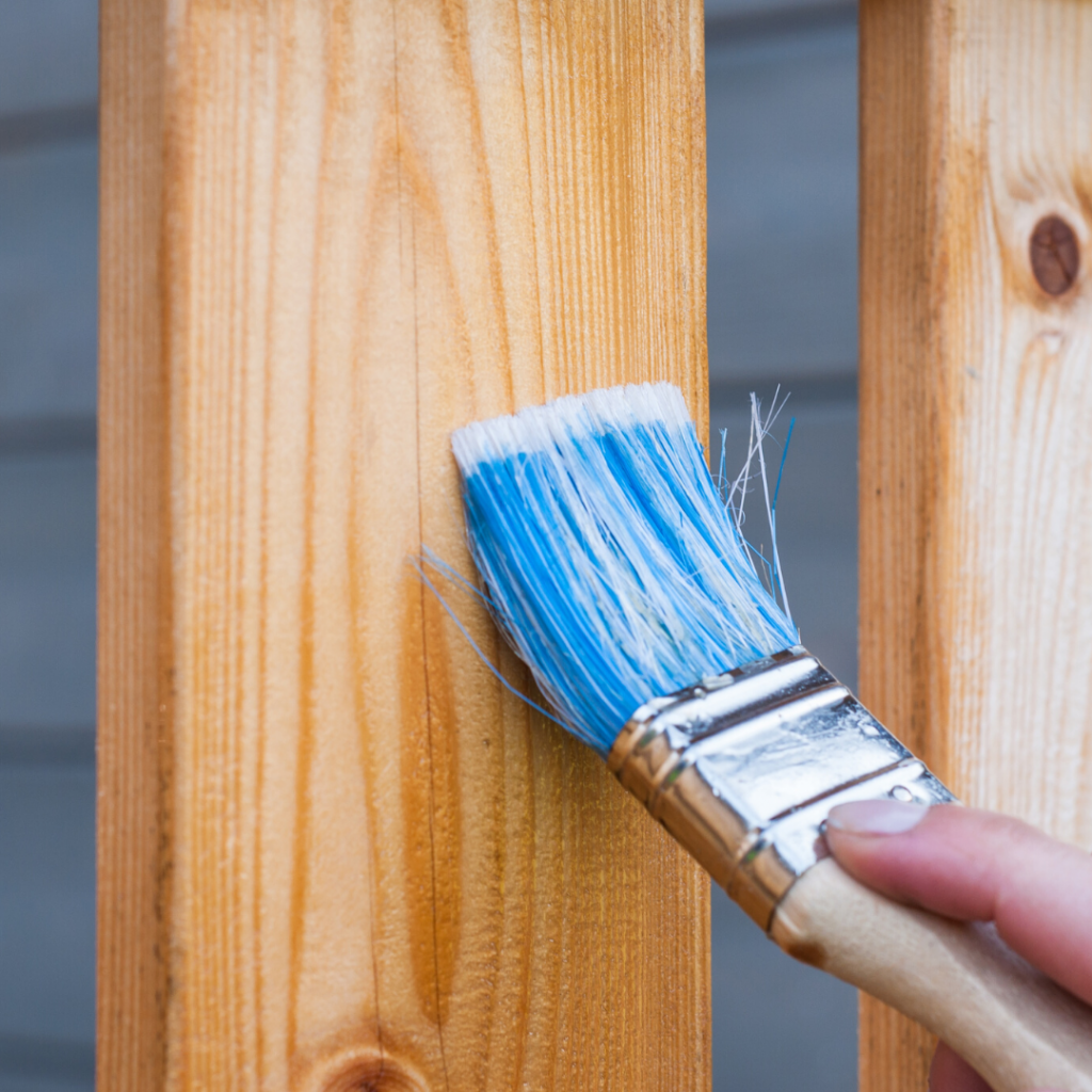 DIY You Can Do When Renting - Painting Wood