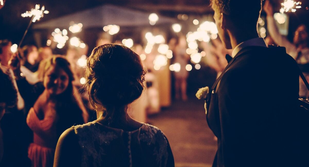 Wedding Loans | wedding evening reception with sparklers