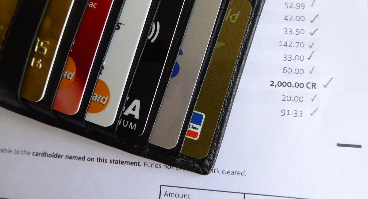 Financial Fears | a credit card wallet with 6 cards inside it