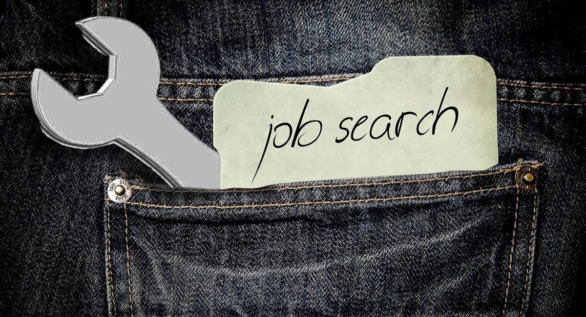 Financial Fears   job search and spanner in back jeans pocket