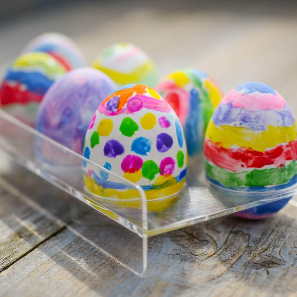 colourful eggs - painted